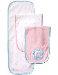 Baby Girls' 3 Pack Terry Burp Cloths