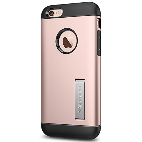 Spigen Slim Armor iPhone 6S Case with Kickstand and Air Cushion Technology Hybrid Drop Protection for iPhone 6S / iPhone 6 - Rose Gold