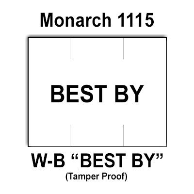 240,000 Monarch compatible 1115 ''Best By'' White General Purpose Labels to fit the Monarch 1115 Price Guns. Full Case + includes 16 ink rollers. by Infinity Labels