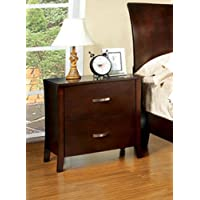 Furniture of America CM7600N Midland Brown Cherry Nightstand