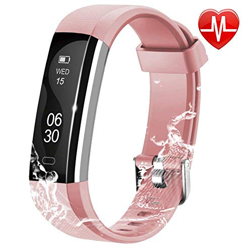 Watch Monitor Heart Pro Rate (Chianruey Fitness Tracker, Activity Tracker with Heart Rate Monitor,Steps Counter IP67 Waterproof Smart Watch with Calorie Counter Watch Pedometer Sleep Monitor for Kids Women Men (Pink))