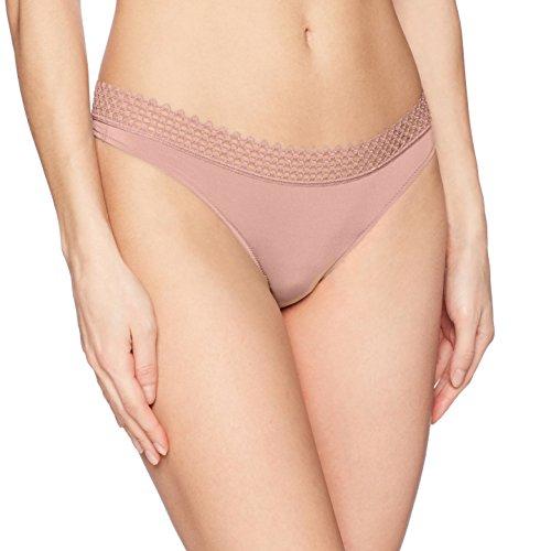 b.tempt'd by Wacoal Women's Tied in Dots Thong Panty, Antler, (Dot Low Rise Thong)