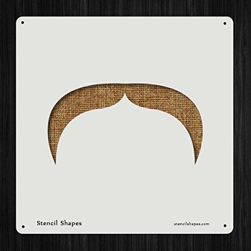 Mustache Face Facial Hair Moustache Style 13971 DIY Plastic Stencil Acrylic Mylar - Styles Shapes Moustache Face For