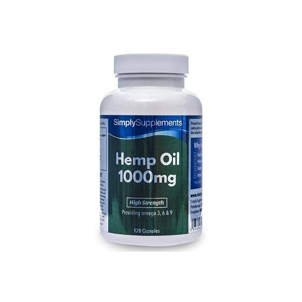 Hemp Oil Capsules 1000mg | Buy Hemp Seed Oil Which is UK Manufactured & Cold-Pressed for Quality | 120 Capsules