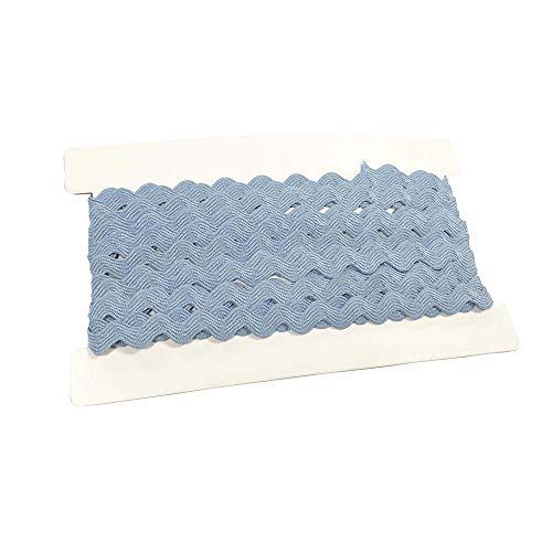 Rick Rack Trim 12mm Width Polyester Baby Ric Rac Trim Light Blue, 5M per Cards