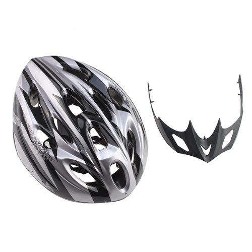 IMAGE® Men Adult Cycling Bicycle Silver PVC EPS Protecting Helmet With Visor