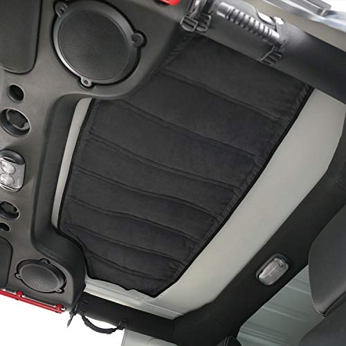 Hooke Road Hardtop Headliner Roof Insulation Kit for 2007-2018 Jeep Wrangler JK 4-Door