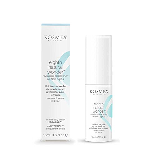 Kosmea Eighth Natural Wonder Facial Serum – Best Anti Aging Serum For The Face & Skin – Contains Myoxinal Derived From Hibiscus Seed & Certified Organic Rosehip Oil & More 0.507fl oz