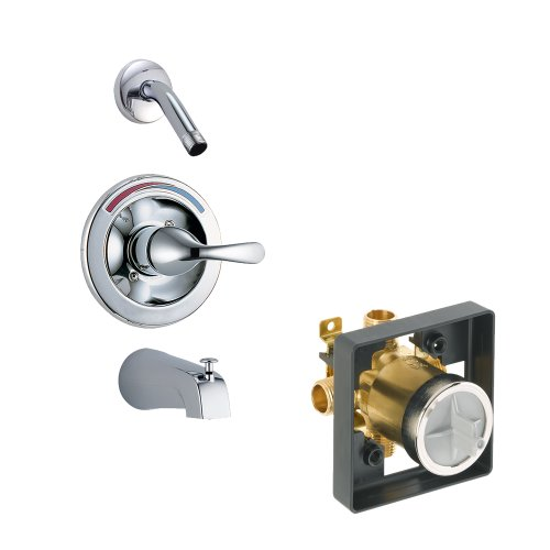 Balance Shower Classic Pressure (Delta Delta KTSDCL-T13491LHD-CH Classic Tub/Shower Kit Pressure-Balance Single-Function Cartridge, Chrome Chrome)