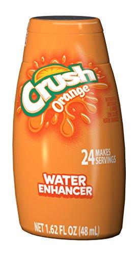 Crush Liquid Water Enhancers - Sugar Free Orange Water Flavoring with No Calories (12 Bottles that make 24 Servings Each)