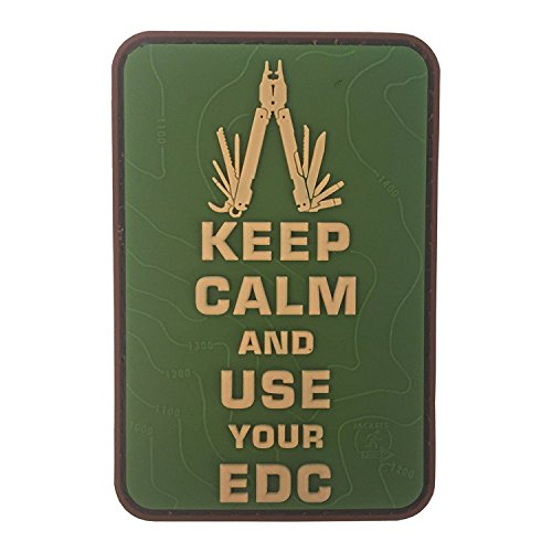 Keep Calm Use Your EDC Multitool Topo 3D Rubber Patch - Multi Uses Tool