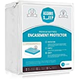 Waterproof Zippered Mattress Encasement Cover - Bed Bug Proof Protector, Breathable, Twin XL Size, Assure Sleep by L'COZEE
