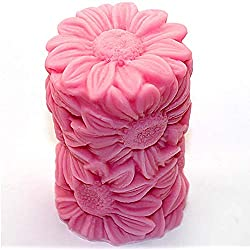 Great Mold Flower Sunflower Cylinder 3D Silicone C