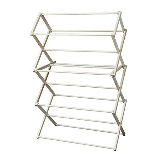 - Peaceful Classics Foldable Wooden Clothes Drying Rack, Handmade Collapsible Racks for Hanging Laundry, Wash Cloths, or Towels