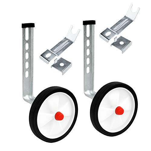 - Little World Training Wheels Heavy Duty Rear Wheel Bicycle Stabilizers Mounted Kit Compatible for Bikes of 12 14 16 18 20 Inch, 1 Pair