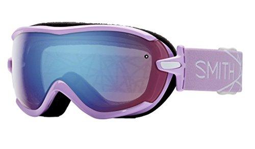 - Smith Optics Virtue Women's Spherical Series Snow Snowmobile Goggles Eyewear - Blush/Blue Sensor Mirror / Small