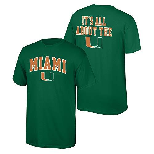 Elite Fan Shop NCAA Men's Miami Hurricanes T Shirt Team Color Back Miami Hurricanes Green Large - Game Miami Hurricanes Green