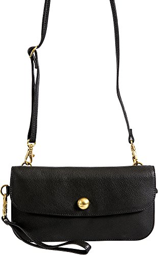 Kim Argentine Leather Crossbody Clutch Wristlet with RFID Protection by Overland Sheepskin Co