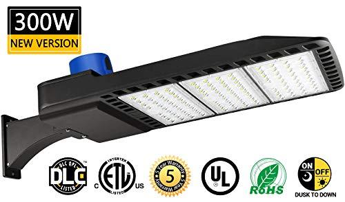 LED Parking Lot Lights 300W Dusk-to-Dawn Photocell Sensor 1000-1200W HID/HPS Replacement Commercial Outdoor Parking Lot Lighting 36000LM 5000K100-277V UL DLC&ETL Listed by LEDMO (Image #7)