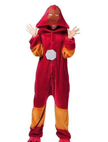 Engerla Halloween Iron Man Cosplay Pajamas Kigurumi Onesie(M)