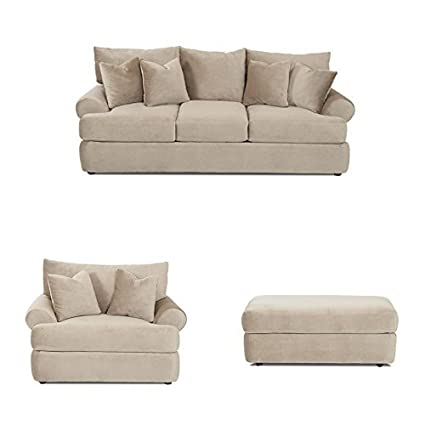 Amazon Com Klaussner K41200 Cora Collection Living Room Set With