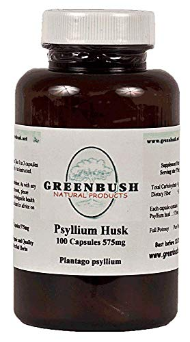 Psyllium Husk | 575 mg, 100 Capsules | Soluble Fiber for Digestive Health
