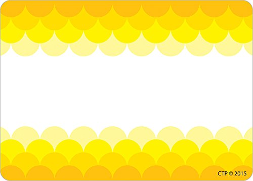 Creative Teaching Press Ombre Yellow Scallops Labels (0715)