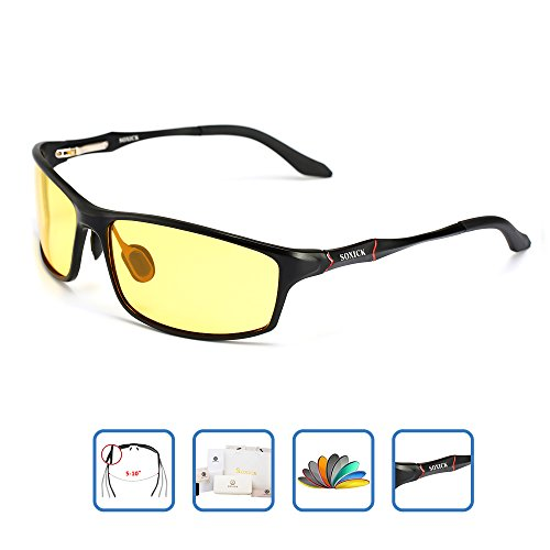 HD Men's Night Vision Glasses For Driving Polarized Anti-glare Night Sight Driving - Male Glasses
