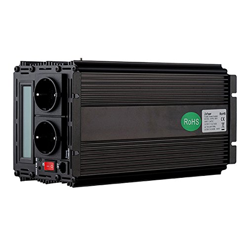 convertisseur pur sinus 24v 220v onduleur 1500 3000w ecran LCD transformateur de tension