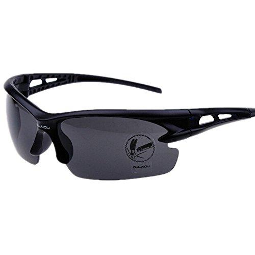 OULAIOU Explosion-proof Lens Polarized Sunglasses Cycling Glasses Lenses-Black Full (Polarized Gray 400 Glass Lens)