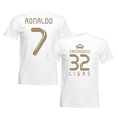 2012 Real Madrid Champions T-Shirt (White) - Ronaldo 7