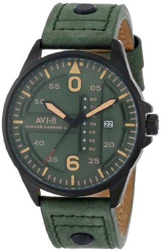 AVI-8 Men's AV-4003-04 Hawker Harrier II Analog Japanese-Quartz Green Watch