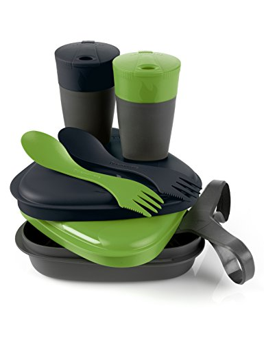 Light My Fire Pack and Eat Kit (8-Piece), Green/Black