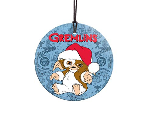 - Trend Setters Gremlins - Gizmo - Christmas Hat - Suncatcher Hanging Glass Collectible