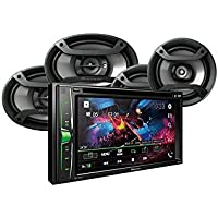Pioneer AVH-200EX Multimedia DVD Receiver with 6.2 WVGA Display, and Built-in Bluetooth & Pair of Pioneer TS-695P 6x9 & Pair of TS-165P 6.5 Speakers.