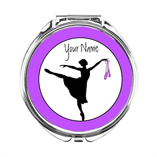 Custom Compact Mirrors (AbbyDay Custom Compact Mirrors Dancing Lavender Pocket Mirror Ballet Designer Compact)