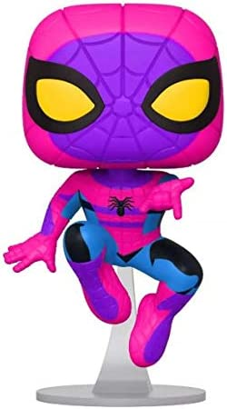 Spiderman Black Light Target Exclusive in Hand MINT Funko Pop