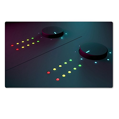 Luxlady Large TableMat IMAGE ID 31059544 3d closeup of dj musical equipment with soft blue on the background