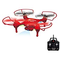 4Hz 5-Channel Remote Control Red Drone with 6-Axis Gyro