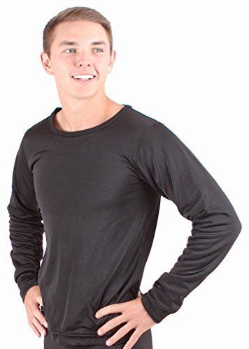 Mongol Winter Wear Mens Thermal Underwear, Superior Top: Mens Warm Core Long John Underwear Top With Crew Neck (X-Large)