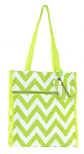 Personalized Nurse | Medical | Physician Carry All Tote Bags (Lime Chevron)