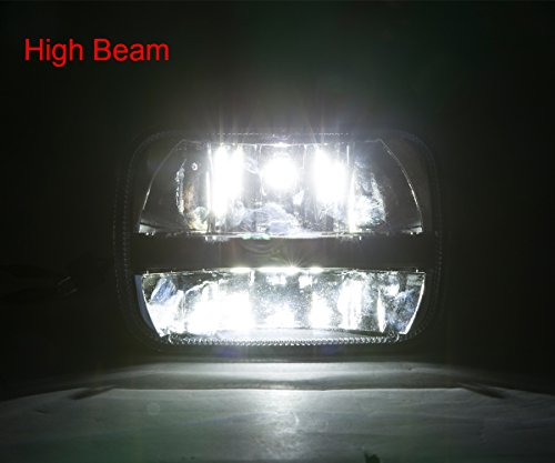 Pair-square-5x-7-Inch-Daymaker-led-headlight-High-Low-Beam-Headlamp-for-jeep-Wrangler-YJ-Cherokee-XJ-Trucks-4X4-Offroad