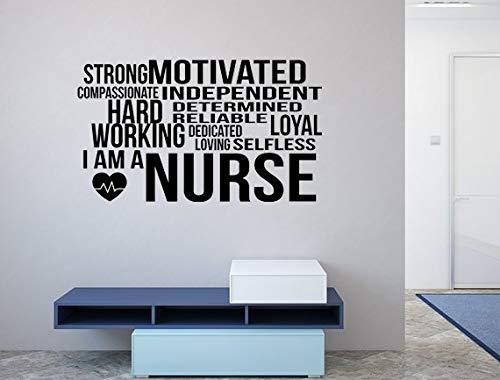659ParkerRob I Am A Nurse Decal I Am A Nurse Nurse Word Cloud Decal Word Cloud Decal Nursing Wall Decal Nurse Gift Idea Nurse Definition Sign