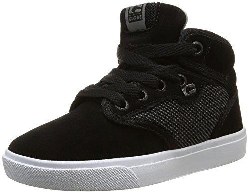 Globe Motley Mid-kids - Zapatillas de skateboarding Niños Negro - Noir (Black Suede/Woven)