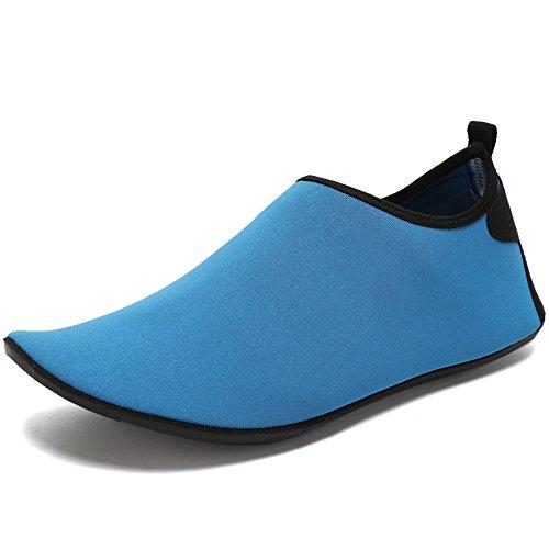 Cior Menn Og Kvinner Barfot Hud Aqua Sko Anti-skli Multifunksjonelle Vann Sko Til Strand Basseng Surfe Yoga Trening C.blue