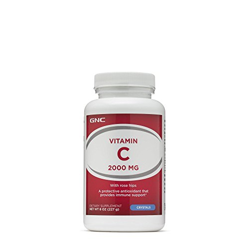 GNC Vitamin C 2000mg, Crystals, 110 Servings, Supports Healthy Bones, Teeth, Blood Vessels and Collagen