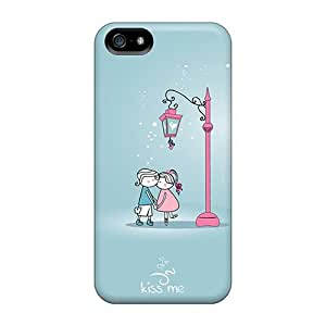 Iphone 5/5s Hard Back With Bumper Silicone Gel Tpu Case Cover Love Kiss Under A Lantern