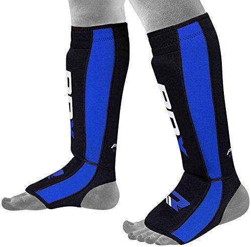 RDX Neoperene MMA Shin Instep Pads Leg Guard Muay Thai Boxing Training Protective Gear Kickboxing (CE Certified by SATRA)