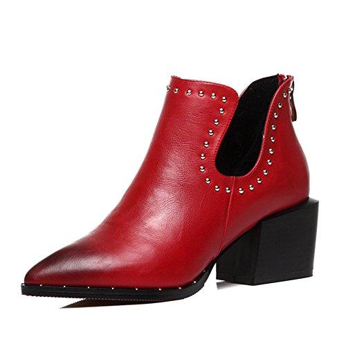 PUMPS Lady Pointed Shoes,High Heel,Rough und hunderte von Studenten Kleine Schuhe-B Fußlänge=23.8CM(9.4Inch)