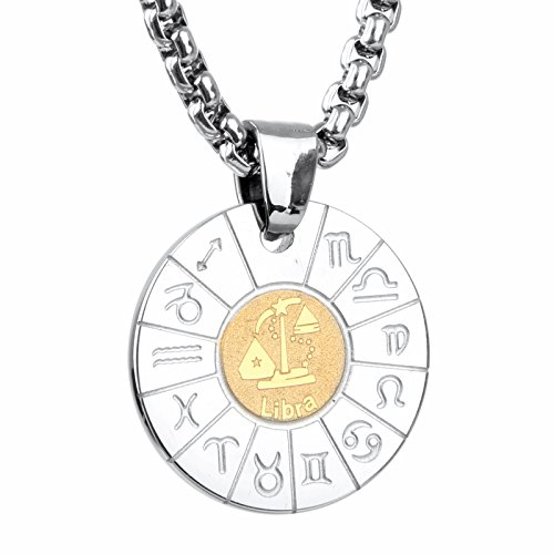 Zodiac Stainless Steel Necklaces Pendants - 8